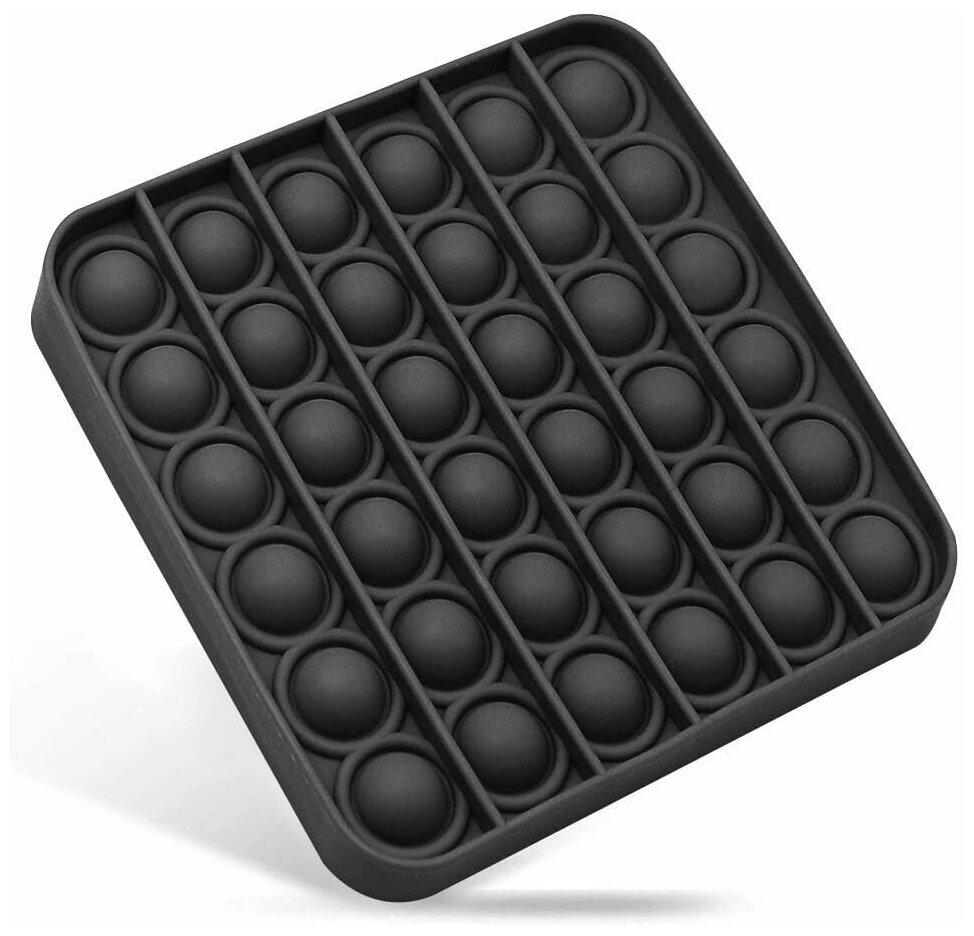 Сенсорная игрушка-антистресс Pop it с пузырьками, радужные бесконечные пузырьки ,Push Bubble Toy квадрат черный — купить по выгодной цене на Яндекс.Маркете