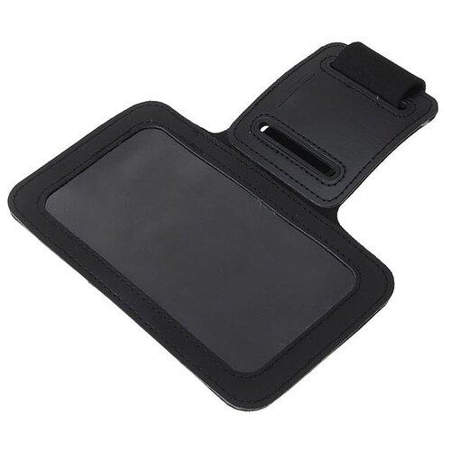 Чехол для сотового телефона на руку LuazON, 14*7,5 см, выход для наушников, черный 1928894 чехол для сотового телефона skinbox lux 4660041407143 черный