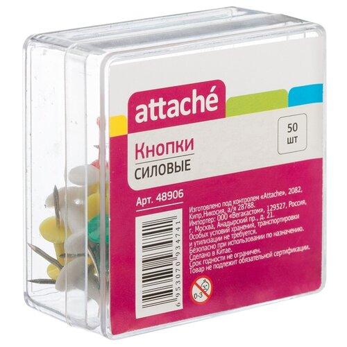 Купить Attache Кнопки (48906) 11 мм (50 шт.) ассорти, Скрепки, кнопки