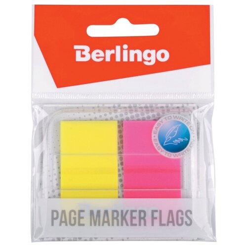 Купить Berlingo флажки-закладки 45х25 мм, 20 листов, 2 неоновых цвета в диспенсере (LSz_45251) ассорти, Бумага для заметок