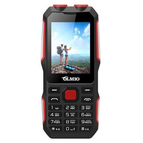 Телефон OLMIO X02 черный/красный
