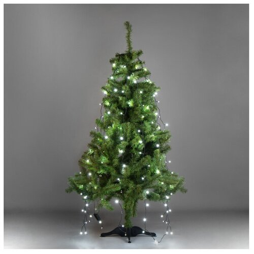 Фото - Гирлянда NEON-NIGHT 235-085, 126 ламп, белый/зеленый провод комплект neon night premium для новогоднего украшения дома цвет гирлянд белый 500 085