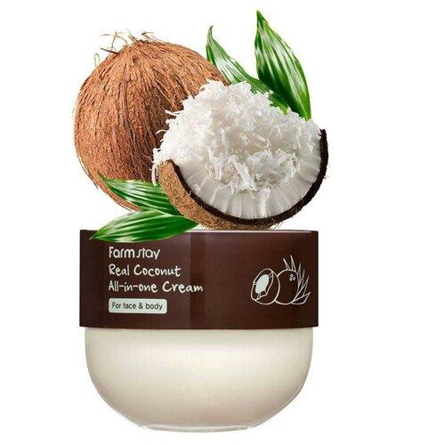 Универсальный кокосовый крем для лица и тела FarmStay Real Coconut All-in-One Cream, 300мл недорого
