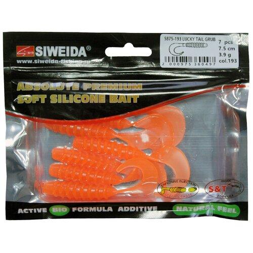 Набор приманок резина SIWEIDA Lucky Tail Grub твистер цв. 193 7 шт.