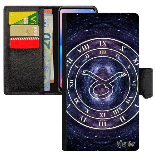 Чехол книжка на телефон Самсунг Галакси S10Е французский дизайн Зодиак Каллиграфия Знак