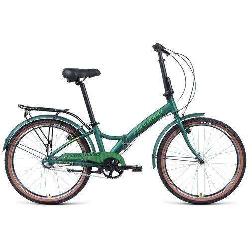 """Городской велосипед FORWARD Enigma 24 3.0 (2021) зеленый 14"""" (требует финальной сборки)"""