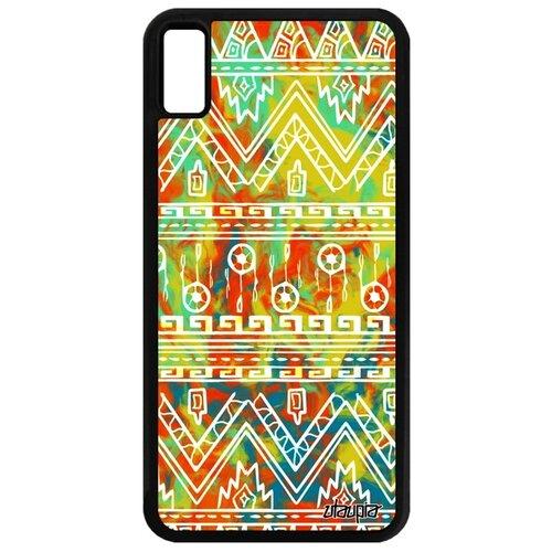 Чехол для Айфона XS Макс французский дизайн Ацтекские мотивы Орнамент Декоративный