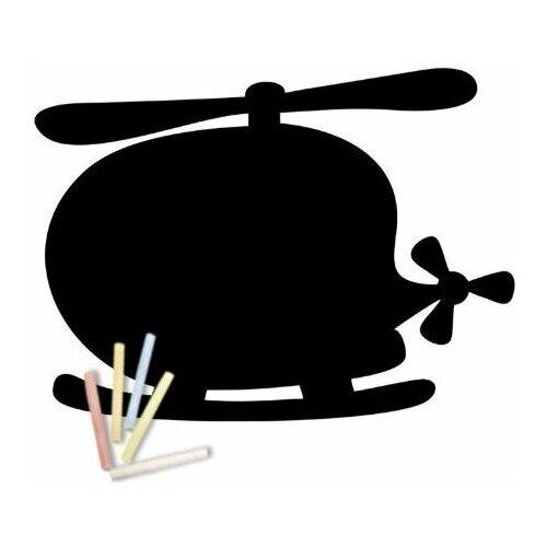 Магнитная меловая доска Doski4you Вертолет для рисования на холодильник + мел / детская грифельная черная