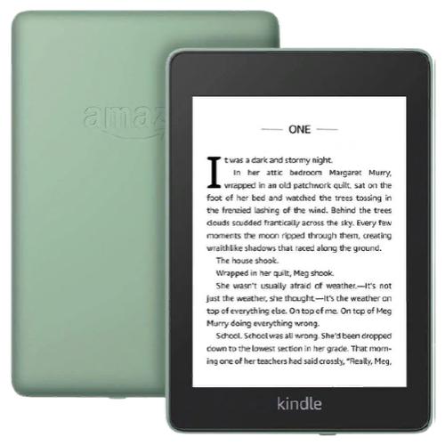 Электронная книга Amazon Kindle Paperwhite 2018 32Gb sage Ad-Supported