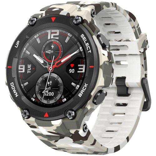 умные часы amazfit t rex smart watch standart eu зеленый камуфляж а1919 Умные часы Amazfit T-Rex, camo green