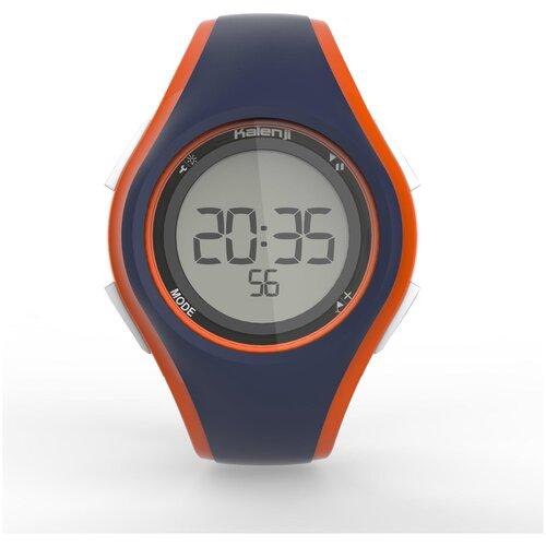 Часы-секундомер для бега W200 M серо-оранжевые KALENJI X Декатлон