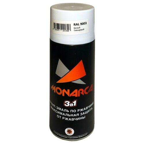Грунт-эмаль Eastbrand Monarca по ржавчине 3 в 1 RAL 9003 белый глянцевый 520 мл