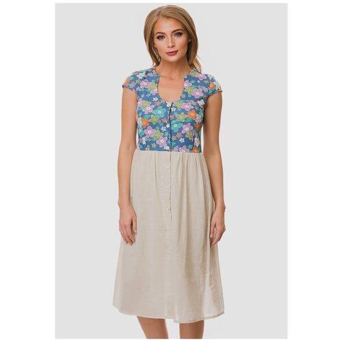 платье befree 1911097509 женское цвет зеленый 17 однотонный р р 48 l 170 Женское летнее платье Gabriela 5328 р.48