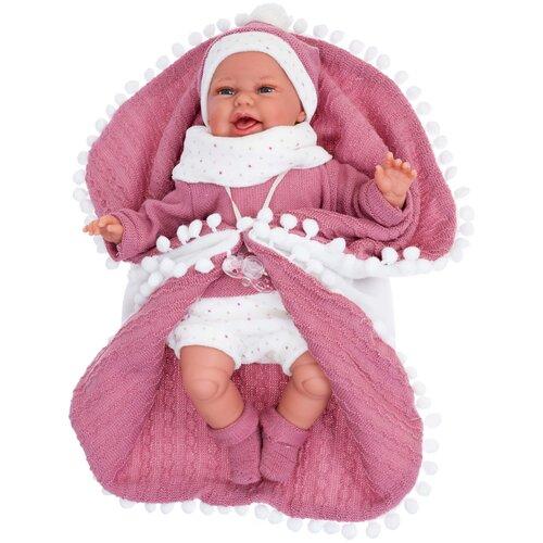 Фото - Интерактивная кукла Antonio Juan Леонора в темно-розовом, 34 см, 7048 кукла antonio juan антония в розовом 40 см 3376p