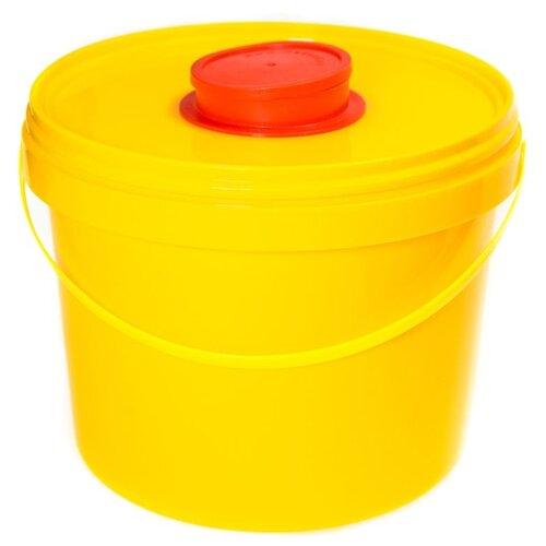 Контейнер Самарский Завод Полимерных Изделий с иглосъемником (класс Б), 3 л желтый