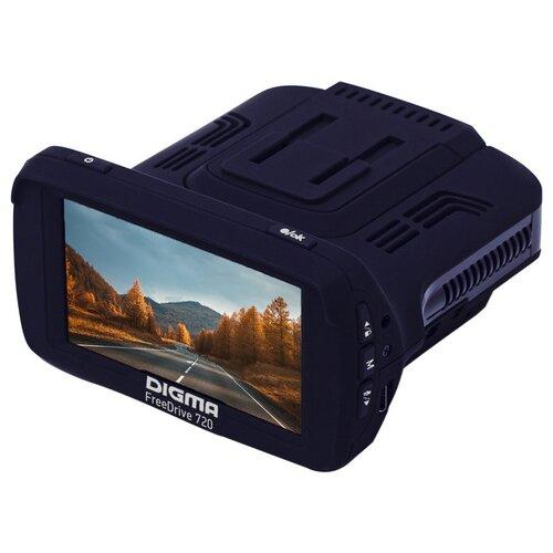 Видеорегистратор с радар-детектором DIGMA Freedrive 720 GPS, GPS, черный