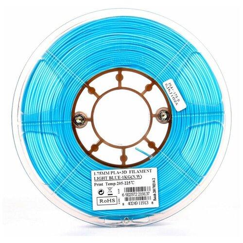Филамент eSun ABS+ (пластиковая нить АБС+) для 3D принтеров Anycubic, Anet, Wanhao, Ender и др, 1.75 мм, голубой, 1 кг, ABS+175D1
