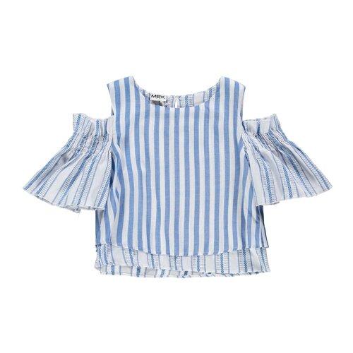 Купить Блузка MEK размер 128, голубой, Рубашки и блузы