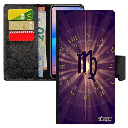 Чехол-книжка для телефона Huawei P20 Pro французский дизайн Гороскоп Календарь Каллиграфия