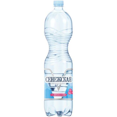 Вода минеральная Сенежская газированная, ПЭТ, 1.5 л вода минеральная сенежская негазированная пэт 1 5 л