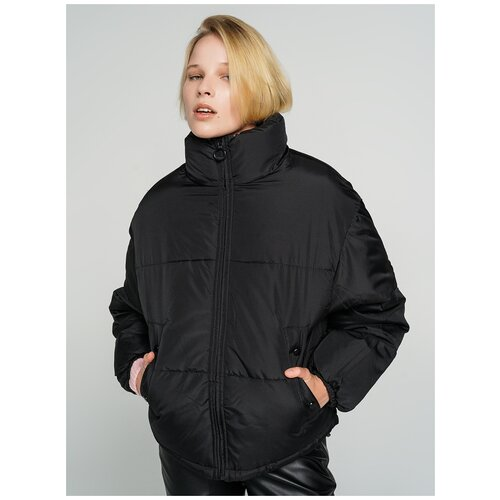 Куртка на синтепоне ТВОЕ A6566 размер L, черный, WOMEN