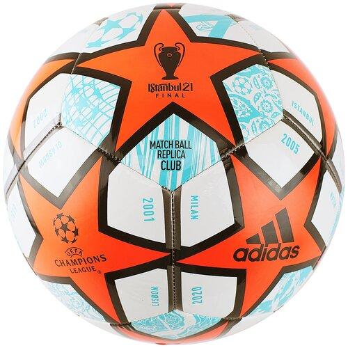 мяч футбольный adidas conext19 tcpt dn8636 белый желтый оранжевый размер 5 Мяч футбольный ADIDAS Finale Club, р.5, арт. GK3469