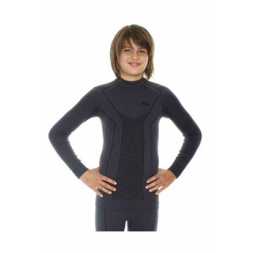 Термобелье для мальчиков Brubeck футболка с длинным рукавом THERMO графитовая 140-146