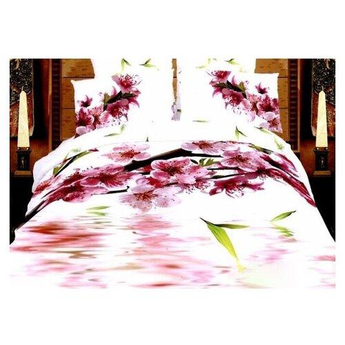Постельное белье евростандарт Tango TS03-060, сатин, 50 х 70 см белый/розовый