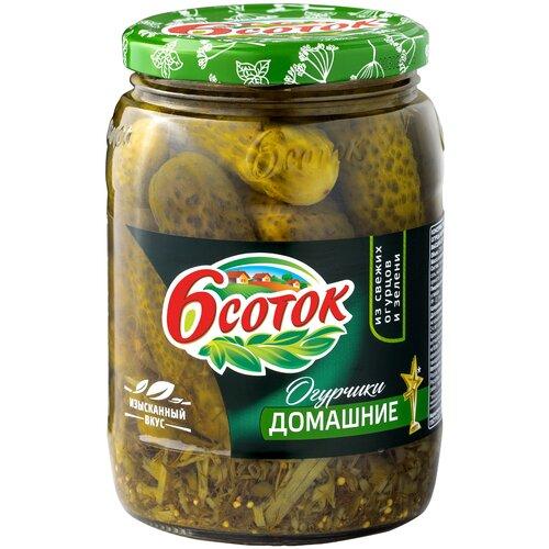 Фото - Огурчики домашние 6 соток, 680 г ассорти овощное 6 соток маринованное консервированное 680 г