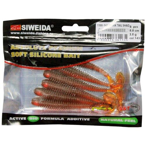 Набор приманок резина SIWEIDA Spark Tail Shad виброхвост цв. 143 6 шт.