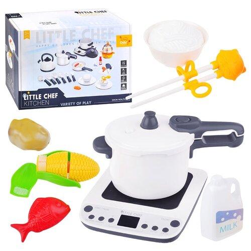 Набор посуды Oubaoloon Кухня, с продуктами, свет, звук, в коробке (BC9009)