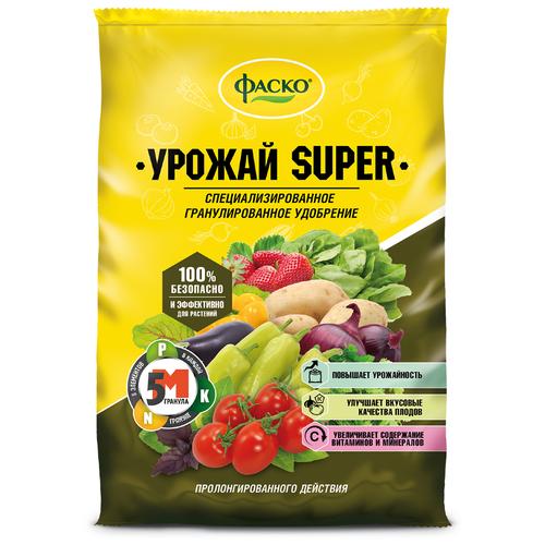 Фото - Удобрение ФАСКО 5М-гранула Урожай-Super, 1 кг удобрение корнеплоды 1 кг фаско уд0102фас35