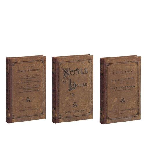 Шкатулки в виде книг, набор 3 предмета 21x14x3см