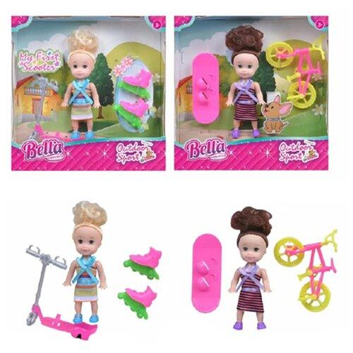 Купить Игровой набор На прогулке , в компл., кукла 8см, предм. 3-4шт. Shantoy Gepay H137, Наша игрушка, Куклы и пупсы