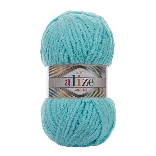 Купить Пряжа для вязания Alize 'Softy Plus' 100г 120м (100% микрополиэстер) (263 бирюзовый), 5 мотков