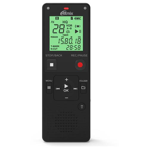 Фото - Цифровой диктофон Ritmix RR-820 4Gb, черный цифровой плеер ritmix rf 3410 4gb черный
