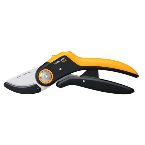 Секатор FISKARS Plus PowerLever P741 черный/оранжевый недорого