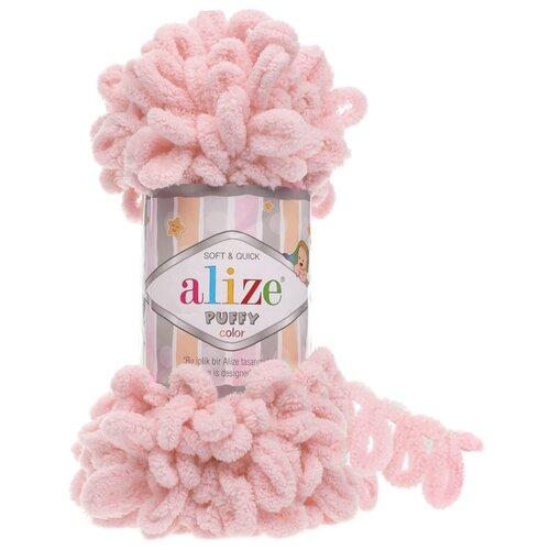 Купить Пряжа для вязания Alize 'Puffy' 100г 9м (100% микрополиэстер) (161 пудра), 5 мотков