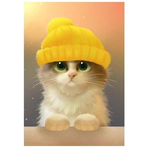 Фото - Алмазная мозаика Милый котик, 19x27 см 3572058 алмазная мозаика для детей котик емкость стержень с клеевой подушечкой