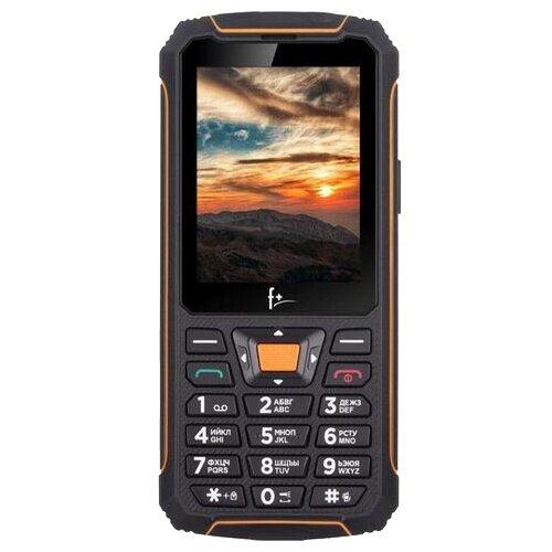Телефон F+ R280C черный/оранжевый