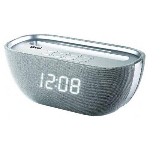 Настольные часы с USB зарядкой будильником и радио Uniel UTR-25