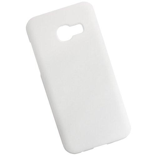 Чехол для Samsung Galaxy A3 пластиковый прорезиненный белый