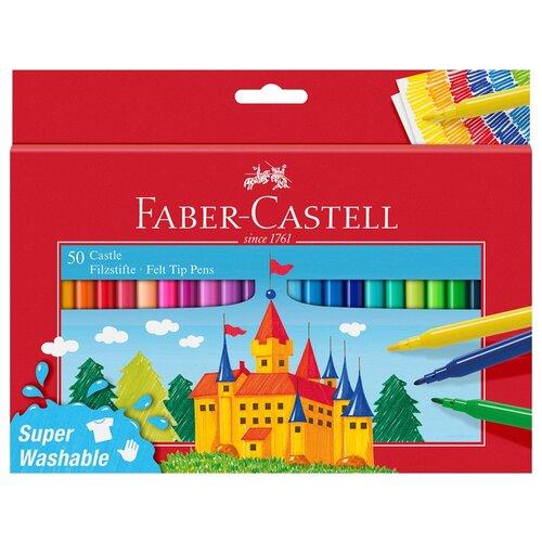 Купить Faber-Castell Набор фломастеров Замок, 50 шт., 554204, Фломастеры и маркеры