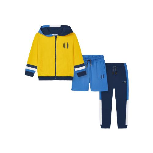 Спортивный костюм Mayoral размер 9(134), желтый/синий