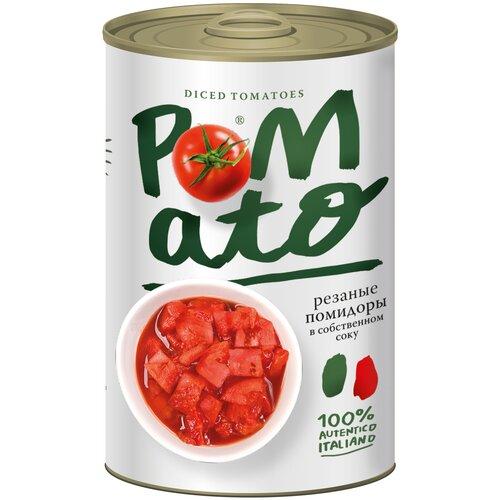 pomato помидоры протертые 390 г Помидоры резаные в собственном соку Pomato, 400 г