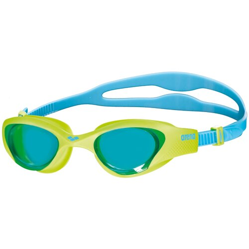 Очки для плавания arena The One Jr, light blue-lime-blue