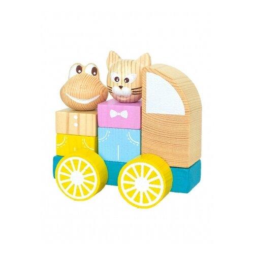 Фото - Каталка-игрушка Томик Машинка 9 деталей 1-29 разноцветный деревянные игрушки томик пирамидка 9 деталей