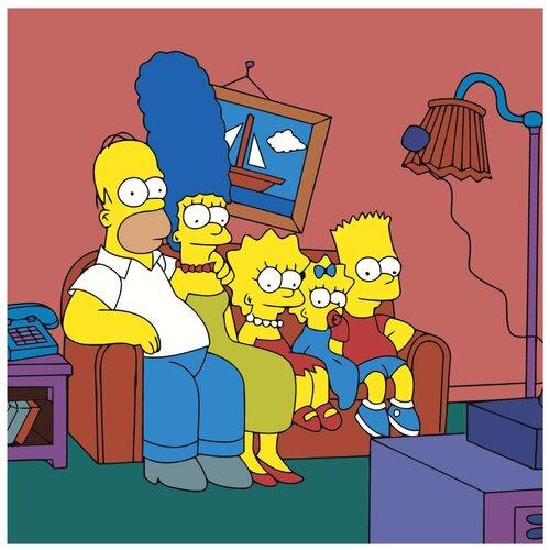 Семейка Симпсонов Раскраска картина по номерам на холсте Z-NA105 40х40