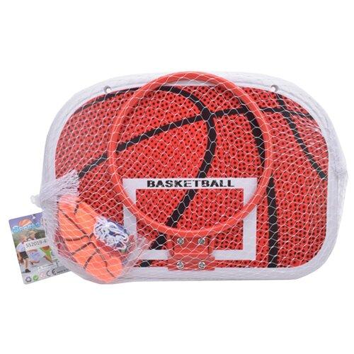 Купить Набор для игры в баскетбол в комплекте: щит - 46, 5*32, 5 см (пластик)+ крепления к кольцу 8шт Shantoy Gepay SS2019-4H, Наша игрушка, Спортивные игры и игрушки