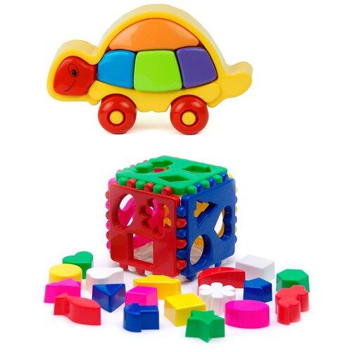 Купить Сортер Karolina toys Логическая черепашка + Кубик логический большой, Сортеры